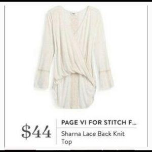 Stitch Fix | Paige VI Sharna lace back knit top